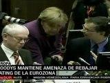 Agencia Moodys amenaza con bajar calificación de Zona Euro