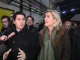 """Marine Le Pen réclame une """"opération mains propres"""" dans le Nord-Pas-de-Calais."""