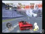 Outrun 2006 : Coast 2 Coast (PS2) - Une course montrant les angles de vue disponibles