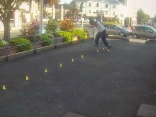 Julien, concours roller slalom (Kompakombo 2011)