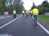 """TELETHON 2011 : Vélo Croix Rouge et motos """"mouettes casquées"""" à Mios (Gironde-33)"""