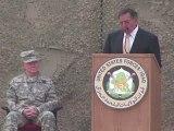 Cérémonie du départ pour les soldats américains en Irak