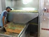 white chickpeas dipping, white chickpeas rotating machines, shelled peanuts production line, shelled peanuts automatic salting, shelled peanuts manual salting, shelled peanuts rotating machines, coffee production line, coffee roasting oven, coffee rotatin