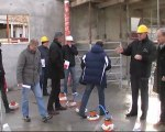 Visite du chantier de restauration scolaire de Migennes