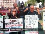 Greek pensioners protest austerity cuts - no comment
