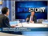 Info BFMTV : 220.000 foyers toujours privés d'électricité