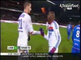 Все голы матча · Лион (Лион) - Эвиан (Тонон-ле-Бен) - 2:1