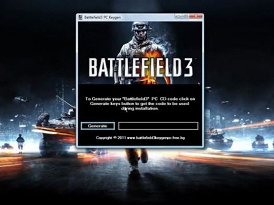 Battlefield 3 PC keys free download + crack - video