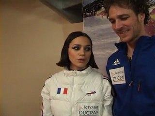 Nathalie PECHALAT - Fabian BOURZAT - Triple Champions de France ELITE