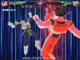 Dragon Ball Z Budokai Tenkaichi (PS2) - Un combat entre Goku et Vegeta dans le mode histoire