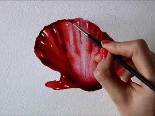 Un coquelicot en aquarelle