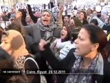 Egyptian women march against violence - no comment