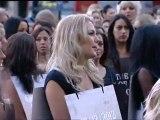 Scantily clad girls march through London