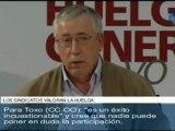 """29S: Méndez (UGT) y Toxo (CCOO) califican de """"éxito"""" la jornada de huelga"""