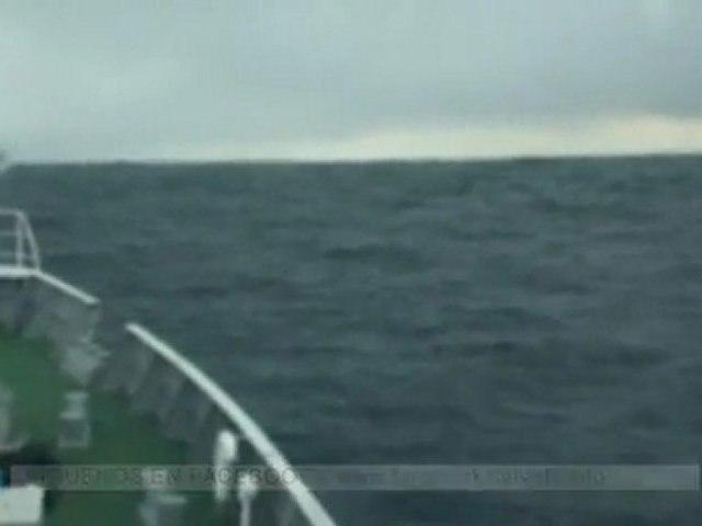 Vídeo del tsunami de Japón desde un barco
