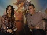Antonio Banderas y Salma Hayek presentan 'El Gato con Botas'