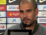 Deportes: Pep Guardiola en la previa del Barça-Rayo de la Liga BBVA