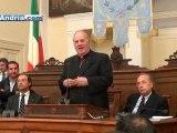 Cerimonia scambio di auguri e consegna medaglie nella sala Consiliare di Andria