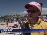 Noël sur la plage de Bondi à Sydney
