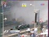 Formule 1 Monaco 2004 Huge crash Fisichella en français (TF1)