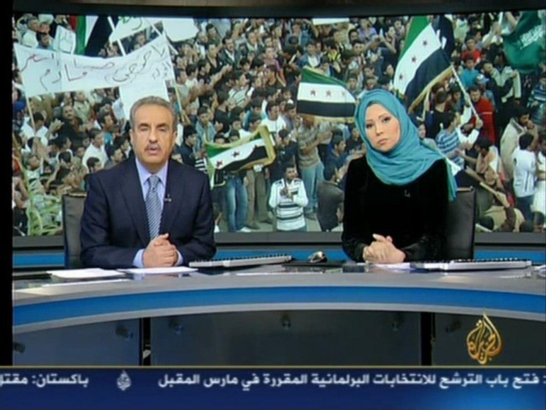 Aljazeera Syria News 24.12.2011 20.00 GMT HD حصاد اليوم الجزيرة هادي العبد الله عماد الدين رشيد أخبا