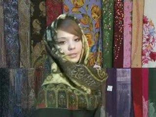 How to tie a scarf  Как завязывать пуховые платки и расписные шали Тольятти