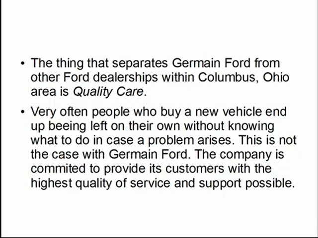 Ford Dealers Columbus Ohio – Germain Ford