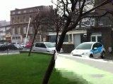 Fort coup de vent à Boulogne-sur-Mer (Pas-de-Calais)