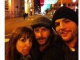Ashton Kutcher revient d'Europe