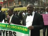 Nigerian lawyers protest against high fuel prices