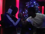 "THE FENCER : duel vs Serge Betsen (rugby) at "" Les Etoiles du Sport »"