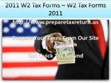 2011 W2 Tax Forms – W2 Tax Forms 2011 Online
