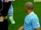 Manchester City vs. Manchester United Kompany Red Card