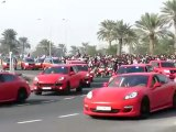 La police du Qatar défile en Porsche