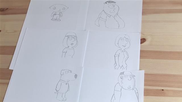 How To Draw Characters From Family Guy
