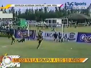 Les exploits de Lionel Messi à 10 ans