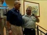 """Visite de """"routine"""" d'Olmert et de Barak au commandement nord de Tsahal"""