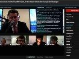 Edouard Courtial invité d'Expat United avec la solution technique Opinews