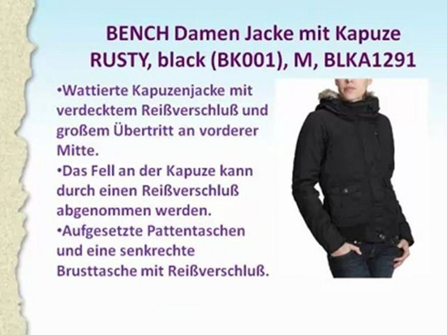 Billabong Damen Jacke LUCILIA black M