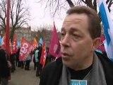 Manifestations en marge de la visite de Nicolas Sarkozy à Lille