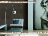Cubrir paredes. Cubrir paredes interiores de casa con corcho