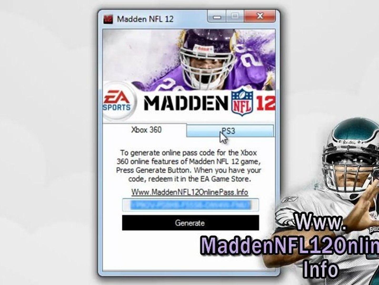Madden NFL 12 Online Pass Free Download Tutorial