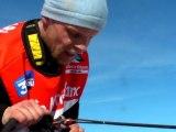 La Grande Odyssée Savoie Mont Blanc 2012 - Etape 1b Jimmy Pettersson à l'arrivée