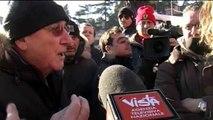 Roma - La protesta dei tassisti al Circo Massimo - Interviste