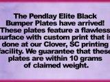 Musle Driver Pendlay Elite Black Bumper Plates 45lb Pair