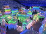 Beijing unveils incredible ice sculptures