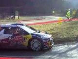 Rallye Monte Carlo ES2 Burzet/St Martial - Virages à l'entrée de Péreyres