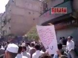 فيديو لمظاهرة حاشدة في حرستا في جمعة لن نركع الا لله 12 8 2011