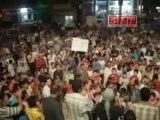 فري برس   إدلب بنش   أهالي بلدة طعوم تشارك التظاهر مع أهالي بنش   15 8 2011