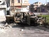 فري برس   حمص كرم الزيتون لو رأى القناص المصو